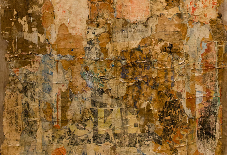 """Ausschnitt aus dem Bild """"Livrée de nuit (la tapisserie)"""" von François Dufrêne aus dem Jahr 1961"""