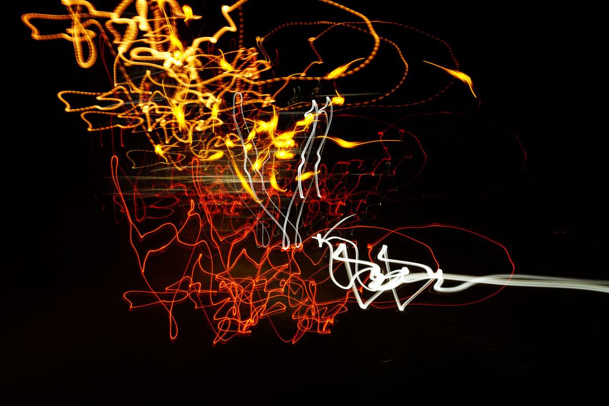 Linsenkunst Kreativ-Fotoreise Rhodos - Lichter am Abend im Mandraki-Hafen